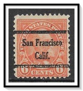 US Precancel #638-45 San Francisco CA Used