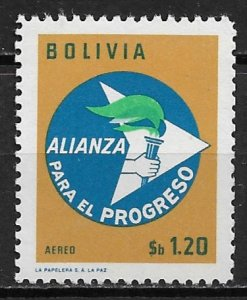 1963 Bolivia C250 Alliance for Progress 2nd Anniversary MNH