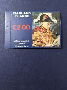 Falkland Islands 254A-256A XFNH complete booklet, CV $28