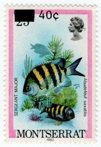 (I.B) Montserrat Postal : Surcharge 40c on 25c OP