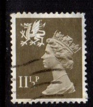 Great Britain - Wales - #WMMH16 Machin Queen Elizabeth - Used