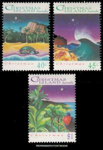Christmas Islands Scott 354-356 Mint never hinged.