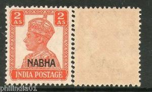 India NABHA KG VI 2As SG 111 / Sc 106 Cat £1.50 MNH Fin