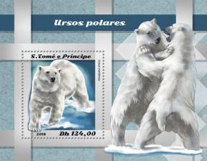 SAO TOME - 2018 - Polar Bear - Perf Souv Sheet - MNH