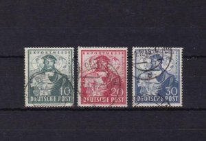 germany hanover trade fair  1949 used stamps ref r14153