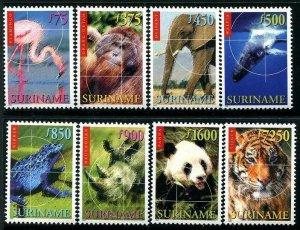 HERRICKSTAMP SURINAME Sc.# 1182-89 Mint NH Animals Stamps