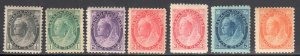 Canada #74 to 79, 82 Mint F-VF to XF C$715.00