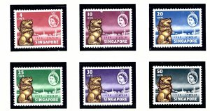 Singapore 43-48 MNH 1959 New Constitution of Singapore