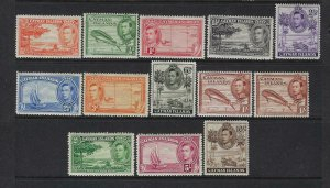 CAYMAN ISLANDS SCOTT #100-111 1938-43 GEORGE VI PICTORIALS SET MINT NH/LH