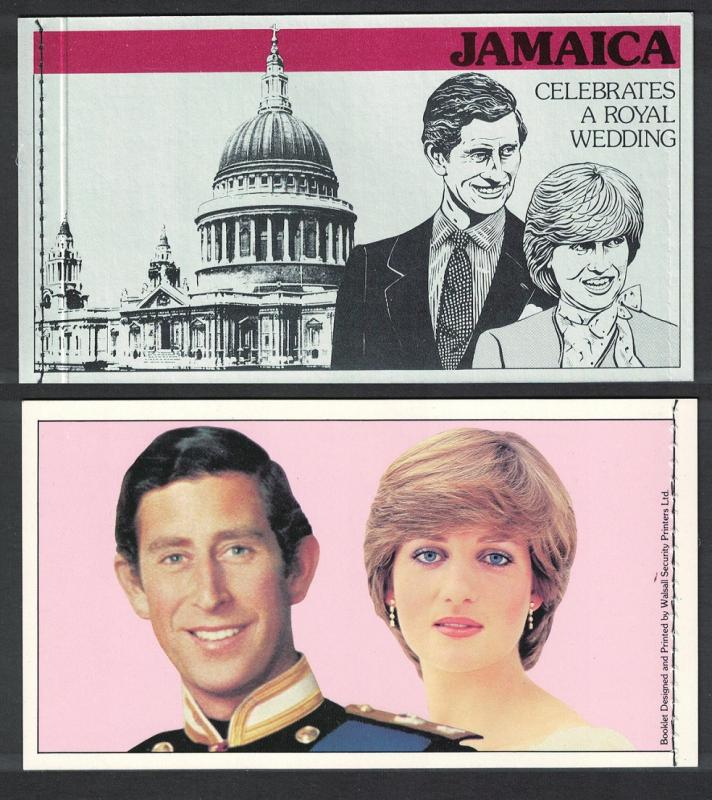 Jamaica Charles and Diana Royal Wedding Booklet SG#SB16