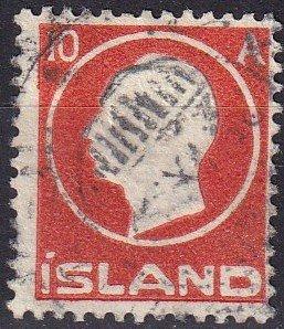 Iceland #93  F-VF Used CV $12.00  (Z7789)