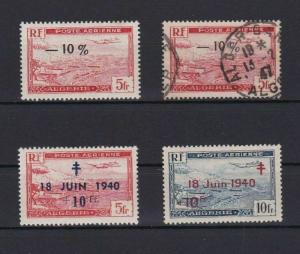 ALGERIA SURCHARGE STAMPS   MINT NEVER HINGED & USED   REF 5194