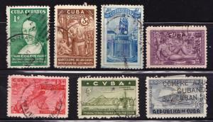 v.dc.T)1944 CUBA SE(7),EDI 367-373,USED,450th ANNIV. OF