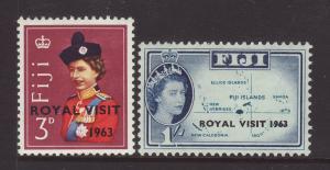 1963 Fiji Royal Visit Set Mounted Mint SG326/327