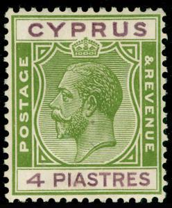 CYPRUS SG110, 4pi sage-green & purple, LH MINT.
