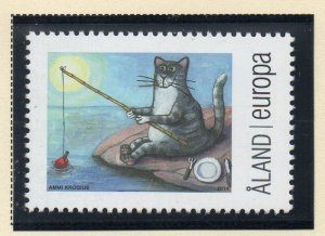 Aland Sc 358 2014 356 Cat Fishing stamp  mint NH