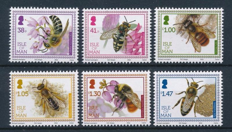 [27403] Isle of Man 2012 Insects Insekten Insectes Bees MNH