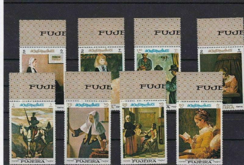 FUJEIRA 1967, ART MINT   STAMPS ON STOCK CARD REF 1575