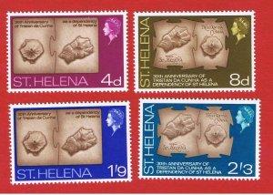 St. Helena  #201-204 MNH OG  Maps  Free S/H