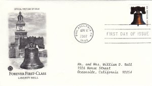 2007, Forever 1st Class-Liberty Bell, PCS, FDC (E9233)