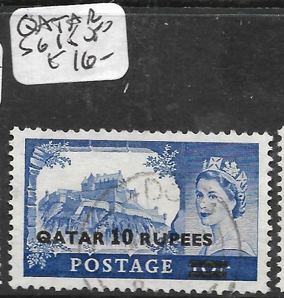 QATAR (P0604B) ON  GREAT BRITAIN QEII 10R  SG 15  VFU