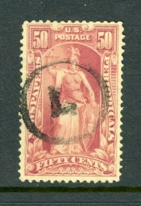 #PR119  50c Newspaper Stamp - USED Circle L Cancel  cv$75.00