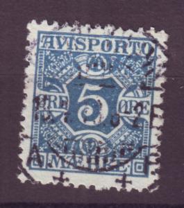 J16639 JLstamps 1907 denmark used #p2 newspaper stamp
