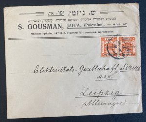 1920s Jaffa Palestine Meter Cancel Barclays  Cover To Leipzig Germnay