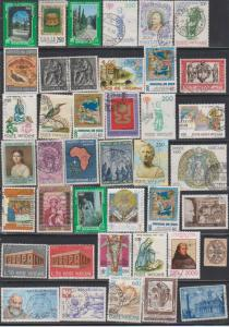 LOT OF DIFFERENT STAMPS OF VATICAN  USED (46) LOT#119