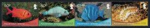 Ascension Fish Marine Life strip of 4v SG#1099-1102