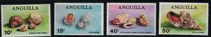 Anguilla SC74-77 Lovely Sea Shells MNH 1969