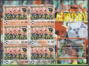 2006 Grenada 5711KL 2006 FIFA World Cup Germany( Paraguay ) 9,00 €