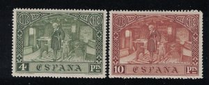 Spain # C41-C42    Christopher Columbus issue    1930  MH  SCV $ 33.50