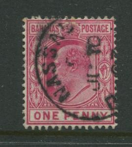 Bahamas -Scott 37 - Definitive - KEVII -1902 - FU - Single 1p Stamp