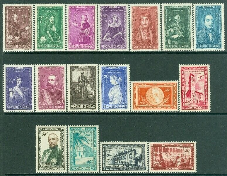 EDW1949SELL : MONACO Collection of ALL DIFFERENT VF MNH COMPLETE SETS. Cat $140.