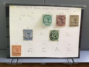 Zanzibar overprints on India used and   mounted mint stamps  R29542