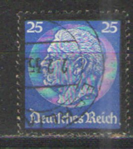 Germany - Third Reich 1934 Sc# 441 Used VG - Hindenburg Memorial issue