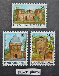 Luxembourg 753-55. 1986 Fortifications, NH