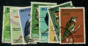 HERRICKSTAMP BOTSWANA Sc.# 25-32 Used Birds. Scott Retail $29.00