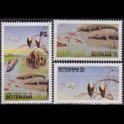 BOTSWANA 1991 - Scott# 499-501 Wildlife 15t-2p NH