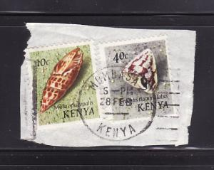 Kenya 37, 41 On Piece U Sea Shells