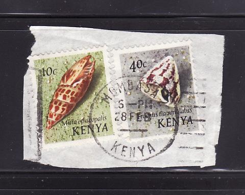 Kenya 37, 41 On Piece U Sea Shells