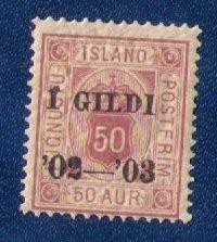 Iceland Sc #O30 MH Gildi Overprint In Black F-VF
