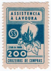 (I.B) Brazil Revenue : Paraiba Duty Stamp 200r (Cotton)