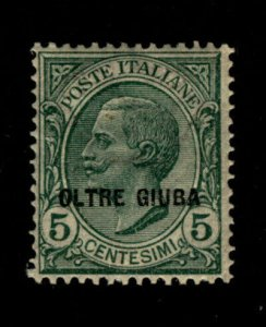 Oltre Giuba Stamp  5L Italy Overprinted Scott # 16 MH