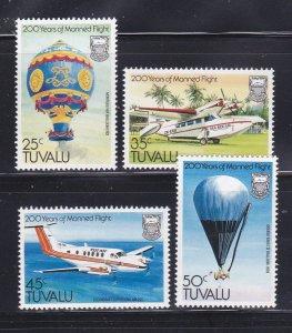 Tuvalu 208-211 Set MNH Aircraft