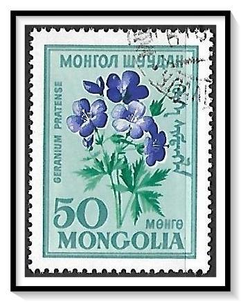 Mongolia #201 Geranium Flower CTO