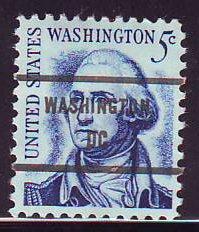 Washington DC, 1283B-81 Bureau Precancel, 5¢  rev'sd Washington