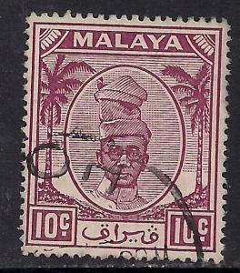 Perak Malaya 1950 - 56  10ct Purple Yussuf SG 136 ( H602