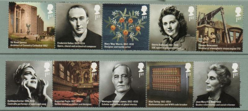 Great Britain Sc 2997-06 2012 Britons of Distinction stamp set mint NH